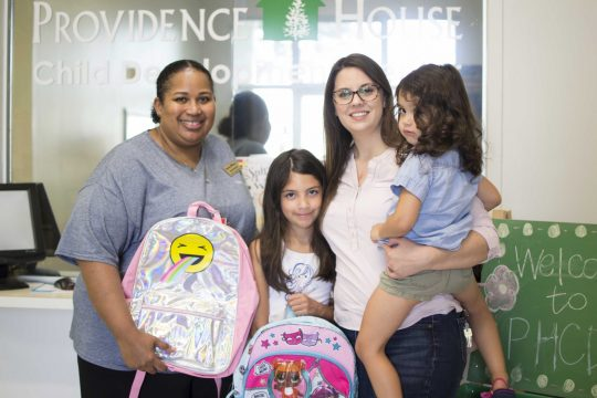 Lawrence family donates school supplies